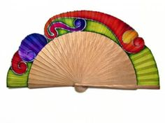 Abanico Parasol, Hand Held Fan, Hand Fans, Antique Fans, Paper Fans, Hot Flashes, Milestone Birthdays, Wearable Art, Color Splash