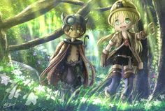 Anime Made In Abyss  Regu (Made in Abyss) Riko (Made in Abyss) Fondo de Pantalla