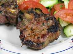 Garlic Grilled Lamb Chops from the Neelys