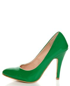 Mixx Rosemary Green Patent Pumps $33