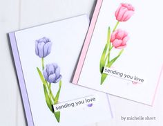 Hello. I'm very excited and honored to bring you today's video featuring the work of Michelle Short. She is one of my favorite card makers and has some wonderful tips for no-line coloring.