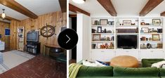 Before & After: A Dated Basement Family Room Gets a Bright White Remodel – Design*Sponge