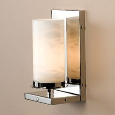 Zia-Priven Avalon Sconce featuring an Alabaster shade #lighting