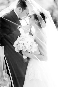 Veiled bride and groom: http://www.stylemepretty.com/2014/09/15/romantic-ballroom-st-louis-wedding/ | Photography: Cary Klein - http://www.carykleinphotography.com