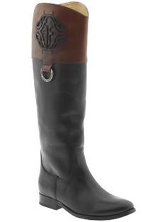 Searching for a pair of two-tone riding boots. Frye - Melissa @ Piperlime.