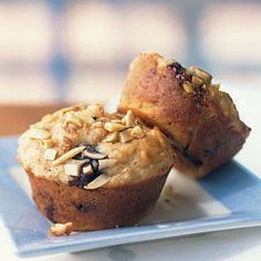 Quick and Healthy Blueberry Power Muffins with Almond Streusel | CookingLight.com