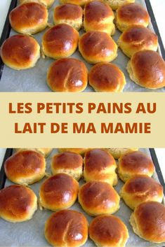 Les petits pains au lait de ma mamie – Page 2 – Toutes recettes com - Expolore the best and the special ideas about Thirty one party Bread Recipe Video, Easy Bread Recipes, Waffle Recipes, Overnight French Toast, French Toast Bake, French Toast Casserole, Homemade Waffles, Homemade Breads, Lemon Desserts
