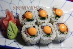 Spicy Salmon sushi roll (both written n video recipe)