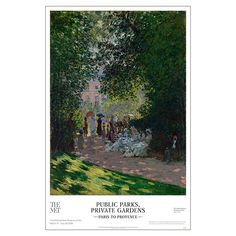 Public Parks and Private Gardens Exhibition Poster - The Met Store