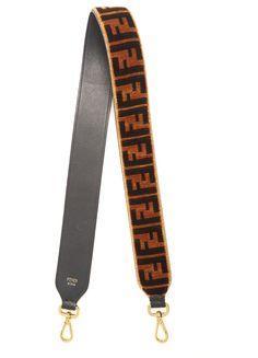 98d2549ce53bf FENDI Strap You logo-print velvet bag strap