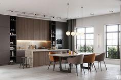 Modern apartment in Berlin on Behance Cheap Bedroom Decor, Apartment, Modern Apartment, Interior, Kitchen, Interior Design Kitchen, Kitchen Dining, Modern, House Interior