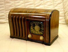Old Antique Wood Zenith Ingraham Vintage Tube Radio Restored w Black Dial | eBay