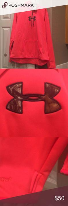 Women's Under Armour Hoodie Camo inside UA symbol Under Armour Tops Sweatshirts & Hoodies