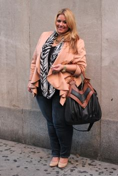 Blazer and jeans #plus #size #fashion