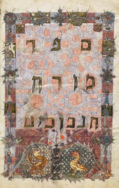 A richly illustrated Hebrew manuscript titled Moreh Nevukhim, which is part of the collection of Hebrew manuscripts being digitized as part of the Polonsky Foundation Digitization Project, a joint initiative between the Bodleian Libraries and the Vatican Library. (Bodleian Libraries MS. Laud Or. 234, Fol. 7v)
