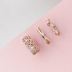 De Beers Pink Gold Rings