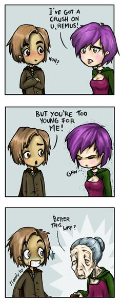 remus/tonks comic | remus and dora by noody fan art cartoons comics digital