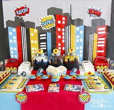 Wonder Woman Party with So Many Awesome Ideas via Kara's Party Ideas | KarasPartyIdeas.com #Superhero #Party #Ideas #Supplies (20)