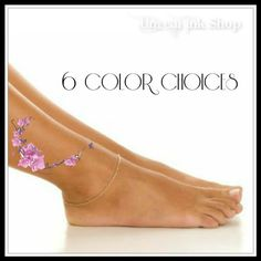 Temporary Tattoo 1 Flower Ankle Tattoo 6 Color Choices by UnrealInkShop on Etsy https://www.etsy.com/listing/200080592/temporary-tattoo-1-flower-ankle-tattoo-6
