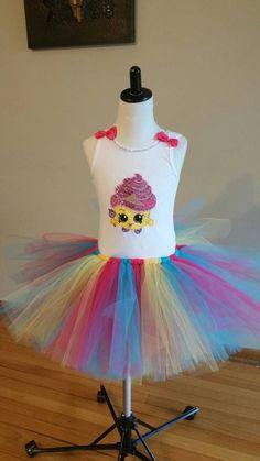 Shopkins tutu set/ shopkins birthday outfit/ by Divastutusboutique