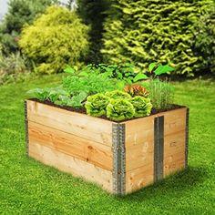 Aufsatzrahmen - Hochbeet aus Europaletten - Günstig online kaufen Outdoor Furniture, Outdoor Decor, Outdoor Storage, Plants, Home Decor, Amazon Fr, Clever, Gardening, Gardens