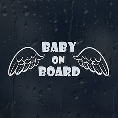 Baby on board #angel wings car #decal vinyl sticker for #window panel bumper, View more on the LINK: http://www.zeppy.io/product/gb/2/141829214815/