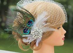 Paon Birdcage voilegrand bijou bijou cheveux par Made4YouBoutique, $70.00