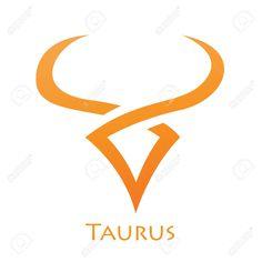 Illustration of Cute Lines Zodiac Sign Taurus Star Sign Isolated on a White Background. Taurus Symbol Tattoo, Taurus Logo, Taurus Bull Tattoos, Taurus Star Sign, Taurus Symbols, Taurus Constellation Tattoo, Zodiac Signs Taurus, Zodiac Star Signs, Horoscope Tattoos