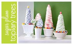 Candy topiary trees
