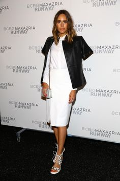 9/4/14 - Louise Roe at the BCBGMAXAZRIA Spring 2015 Fashion Show in NYC.