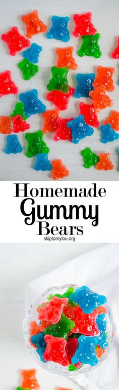 How to make homemade gummy bears! It's fun to make and eat this yummy candy with the kids!