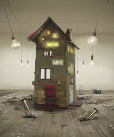 "Saatchi Online Artist Matylda Konecka; New Media, ""'Bulb Factory'"" #art"