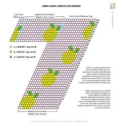 Chart for limes' bag/ Gráfico para bolso de limones