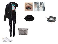 """""""Untitled #13"""" by imcrazyisthatokay on Polyvore featuring Zizzi, Converse, Lime Crime and AeraVida"""