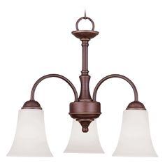 Livex Lighting Ridgedale Vintage Bronze Mini-Chandelier | 6464-70 | Destination Lighting