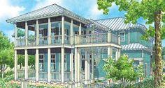 """The """"Sierra Vista"""" Cottage Home Plan.  www.saterdesign.com"""