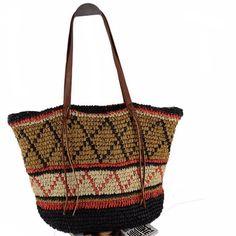 2017 New European Fashion National Straw Shoulder Bag Women Large Casual Beach Bag Tote Brand Design Leisure Shopping Bag Bolso