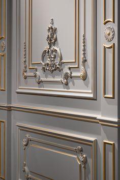 Home Design Living Room, Elegant Living Room, Master Bedroom Design, Dream Home Design, House Design, Classical Interior Design, Door Design Interior, Classic Interior, Interior Decorating