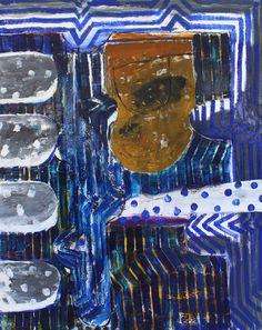 "John Walker, ""John's Bay Pollution"" oil on canvas, 84 x 66 inches. John Walker, Walker Art, Abstract Painters, Abstract Landscape, Abstract Art, Small Paintings, Large Painting, Words On Canvas, Oil On Canvas"