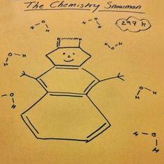 The Chemistry Snowman - Amazing chemistry creativity