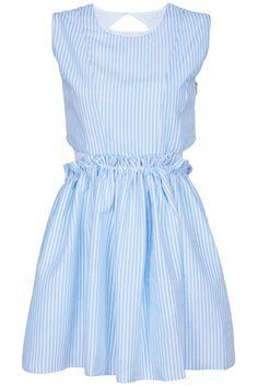 #ROMWE | Cut-out Blue Striped Dress, The Latest Street Fashion