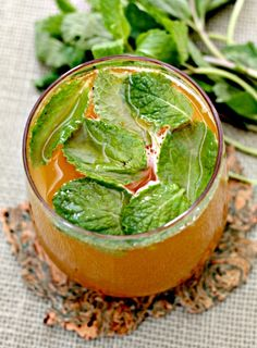 Pumpkin simple syrup turns a mojito into the perfect Fall cocktail! www.mantitlement.com