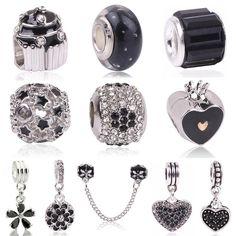 Couqcy High Quality White Flower Black Murano Glass Beads Fit Original  Pandora Silver Charm Bracelet Necklace DIY Jewelry Making fca8e6ac56fc