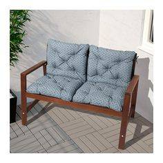 ÄPPLARÖ Bench with backrest, outdoor, brown stained brown brown stained -