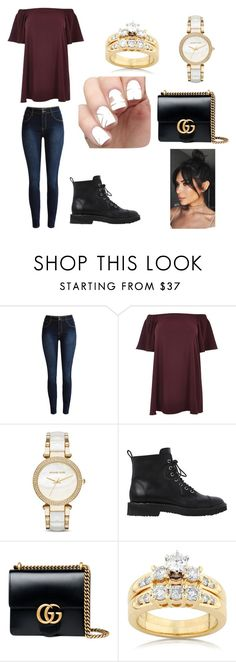 """""""A lazy married day"""" by jessb900 ❤ liked on Polyvore featuring River Island, Michael Kors, Giuseppe Zanotti, Gucci, Kobelli and plus size dresses"""
