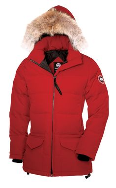 2014 New Stlye Canada Goose Solaris Parka Red online sale