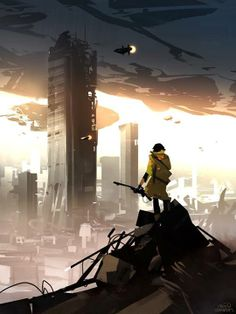 Nicolas Bouvier aka Sparth, artistic director and concept designer in the gaming industry. Landscape Concept, Fantasy Landscape, Environment Concept Art, Environment Design, Fantasy World, Fantasy Art, Arte Cyberpunk, Futuristic Art, Matte Painting