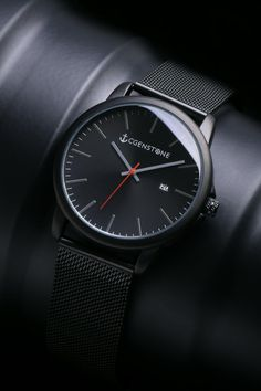 Holiday gifts for coworkers Black watches mens by Cgenstone. Holiday gifts for coworkers Black watches mens by Cgenstone. Vintage Watches For Men, Best Watches For Men, Luxury Watches For Men, Cool Watches, Black Watches, Casual Watches, Women's Watches, Wrist Watches, Elegant Watches