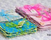 Lingettes lavables par 6 coton et éponge en coton pour filles ou garçons : Puériculture par shirleyzepap
