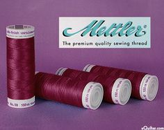 Mettler Silk Finish Cotton Thread - 164 yd - Garnet